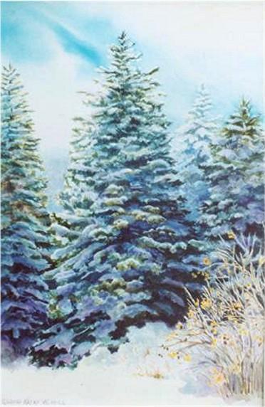 Snowfall Print