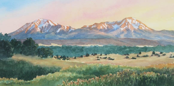 Spanish Peaks Evening -C