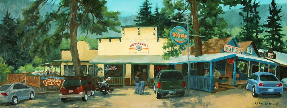 *The Dog Bar in Cuchara - Original oil painting. Print available