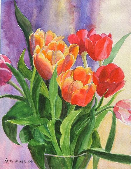 Rainbow Tulips - Print