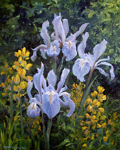 Three Wild Iris - Print