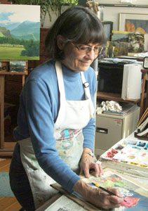 Kathy Hill in her studio