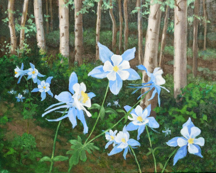 Columbines on the Trail
