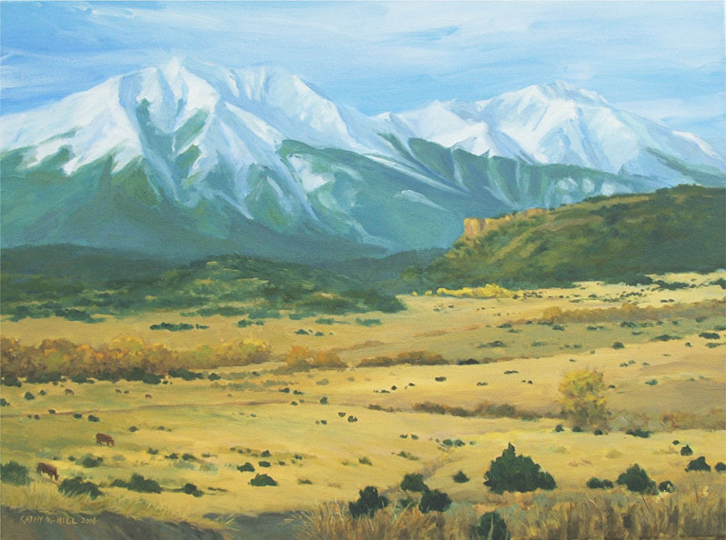 "Eastern Approach to the Spanish Peaks - 18""x24"" Oil Painting - $395"