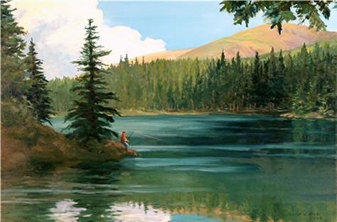 Fishing at Bear Lake