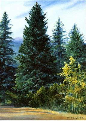 Holiday Millennium Tree Print