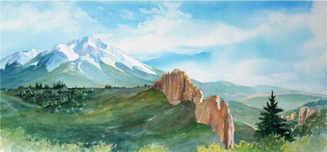 Remembering the West Spanish Peak and Profile Rock - Giclee