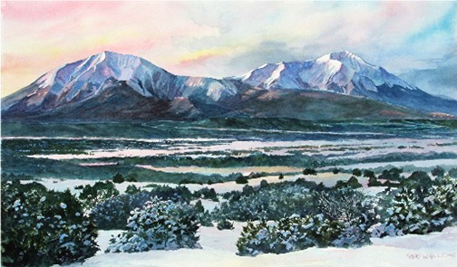 Spanish Peaks Winter Dawn - C