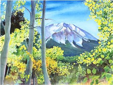 West Peak Through the Aspens Print