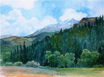 West Spanish Peak Beyond the Gap