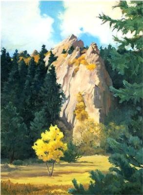 Young Aspen, Old Landmark