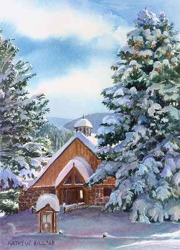Cuchara Chapel in Winter Print - size A
