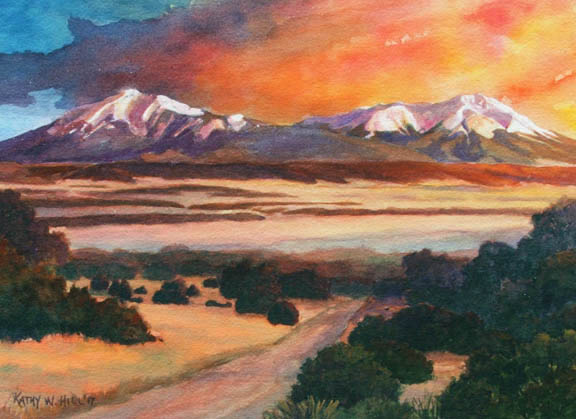 Spanish Peaks Evening Splendor