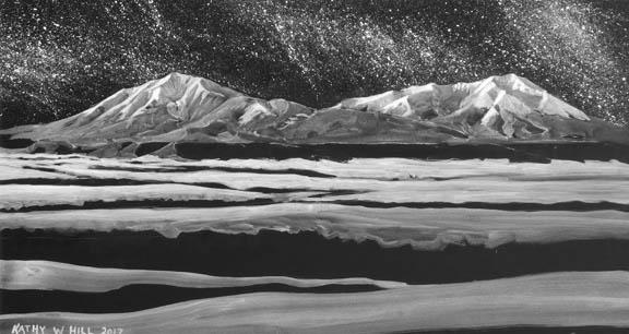 Majestic Moonlit Spanish Peaks