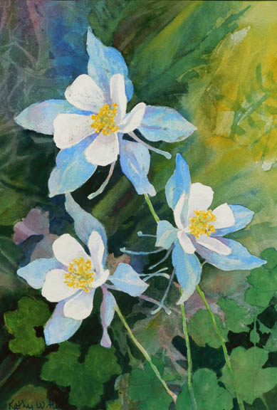 Three Spring Columbines