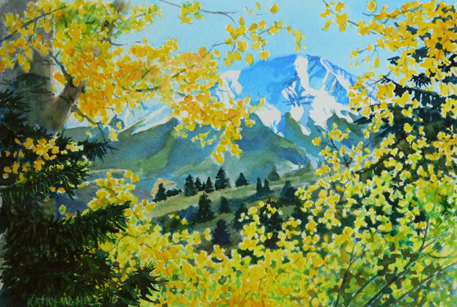 Yellow Aspens with the West Spanish Peak
