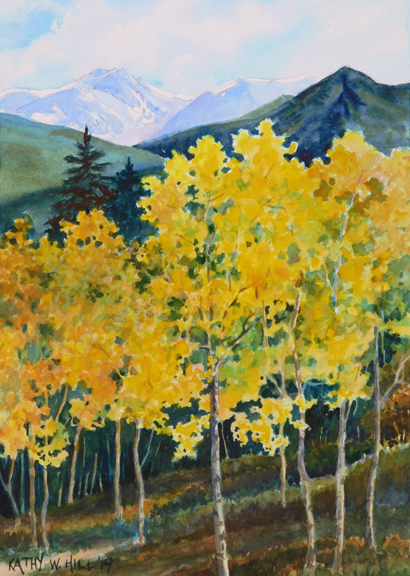 Aspen Grove with Distant Rockies